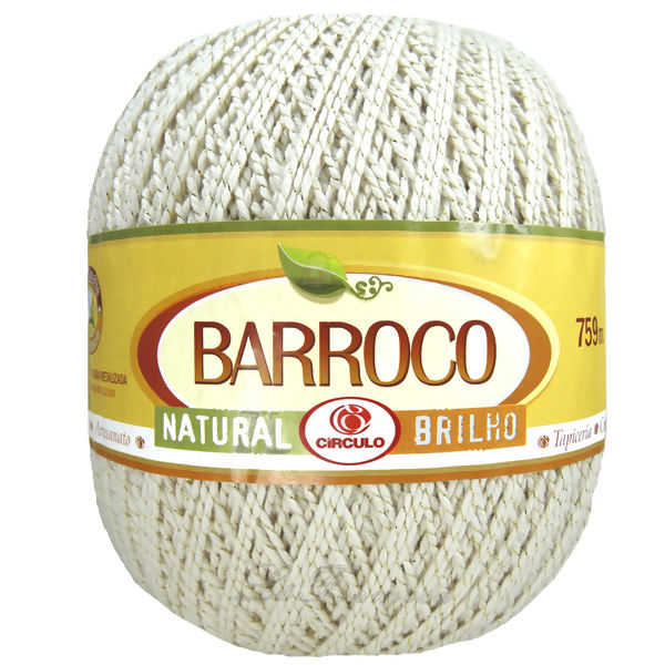 Barbante Barroco Natural Brilho nº6 - Ouro 700g (759m)