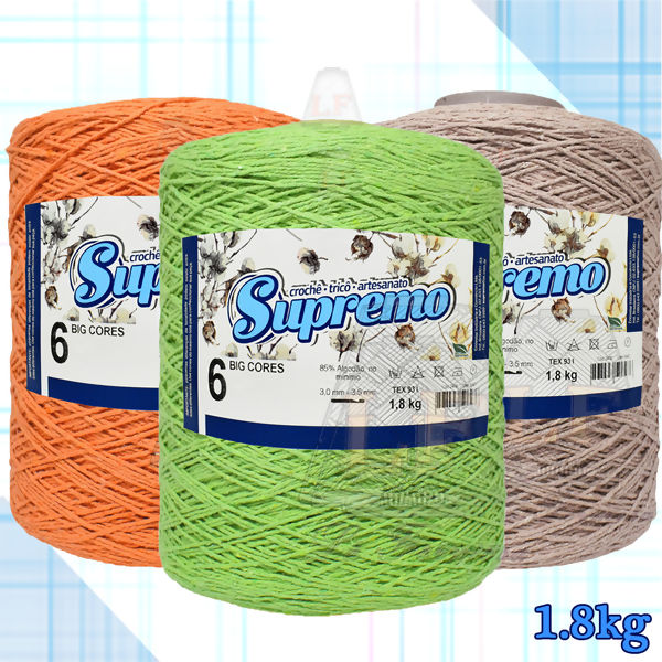 Barbante Supremo Big Cores nº6 - 1800 g