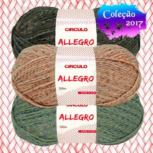 Escolhacor Lã Círculo Allegro - 100g(300m)   Lã Formosa 36c90249f4b