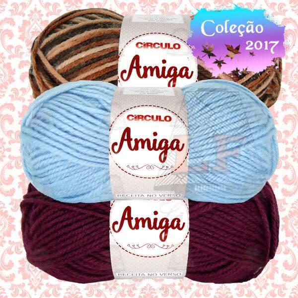 EscolhaCor Lã Círculo Amiga - 100g(133m)   Lã Formosa ffa655e2b11