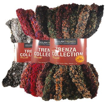 Lã Aslan Trenza Collection Bouclê - 200g