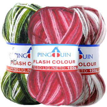 Lã Pingouin Flash Colour - 100g(200m)
