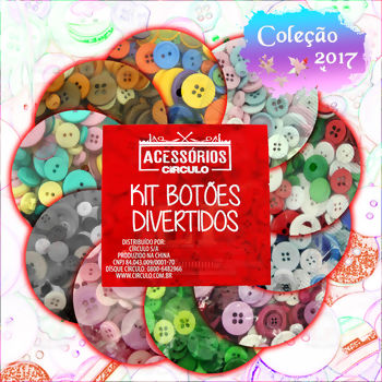 Kit Círculo Botões Divertidos - Patchwork 100g