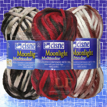 Lã Cisne Moonlight Multicolor - 100g (52 m)