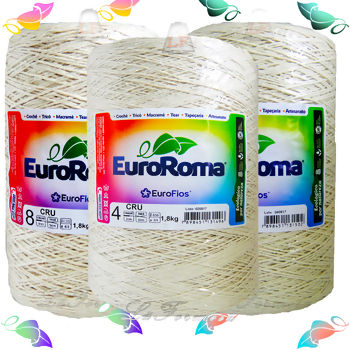 Barbante EuroRoma Big Cru - nª 4,6,8(1,8kg)